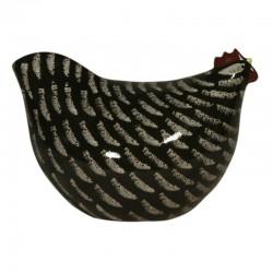 Poulette ceramique de Lussan Petit Modele Noir