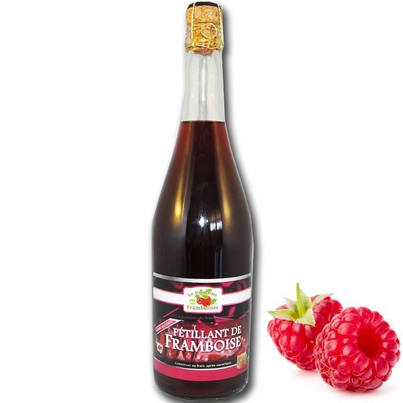 Sparkling raspberry juice