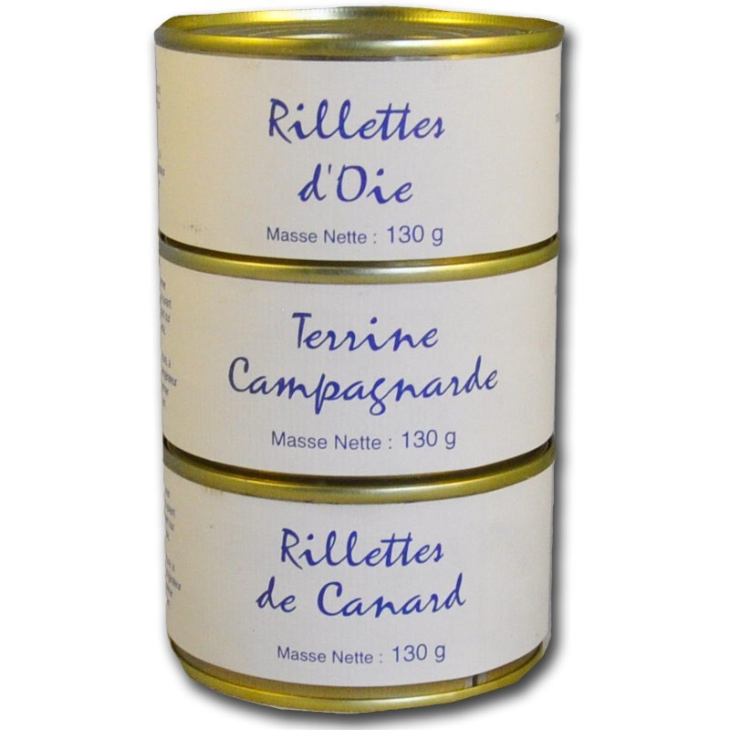 Assortment terrines of countryside - Online French delicatessen