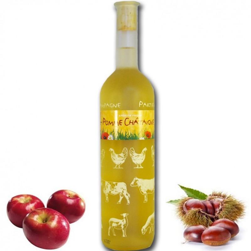 Aperitivo de castaño de manzana