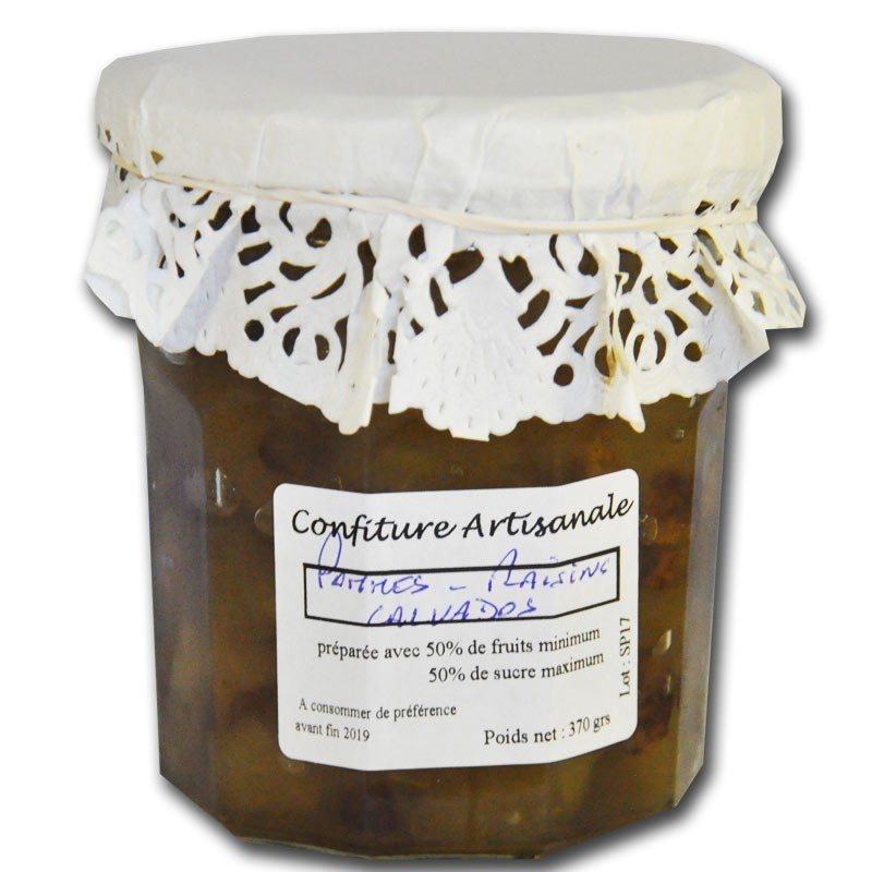 Confiture Pommes Raisins Calvados - épicerie fine en ligne
