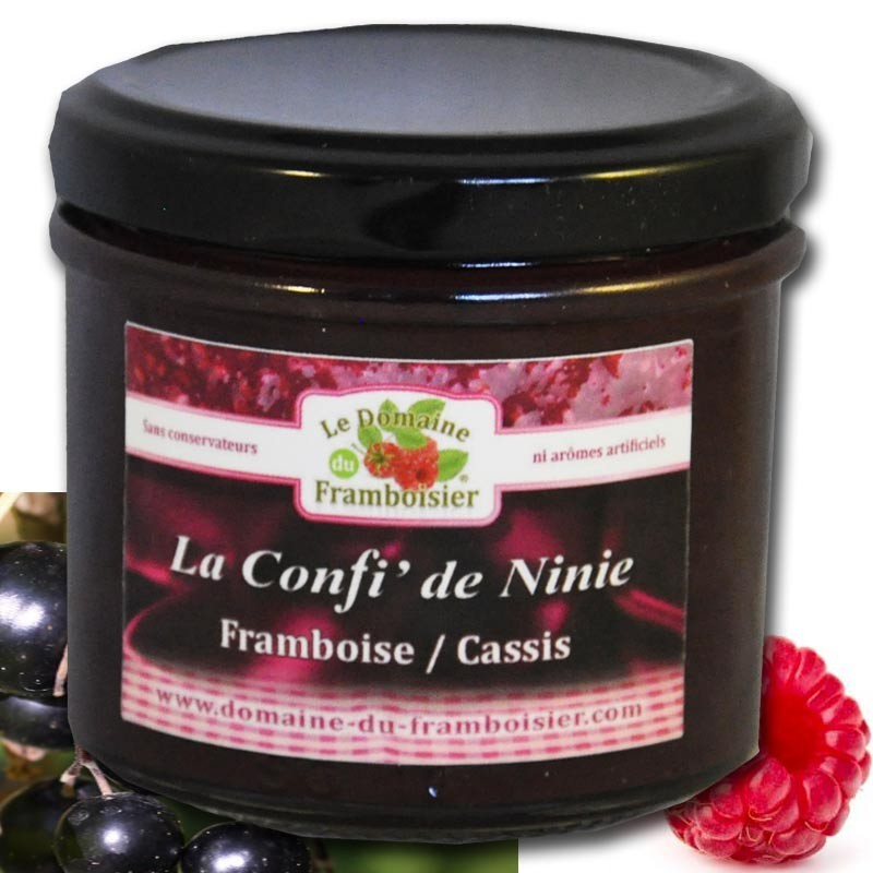 Small raspberry and blackcurrant jam - Online French delicatessen