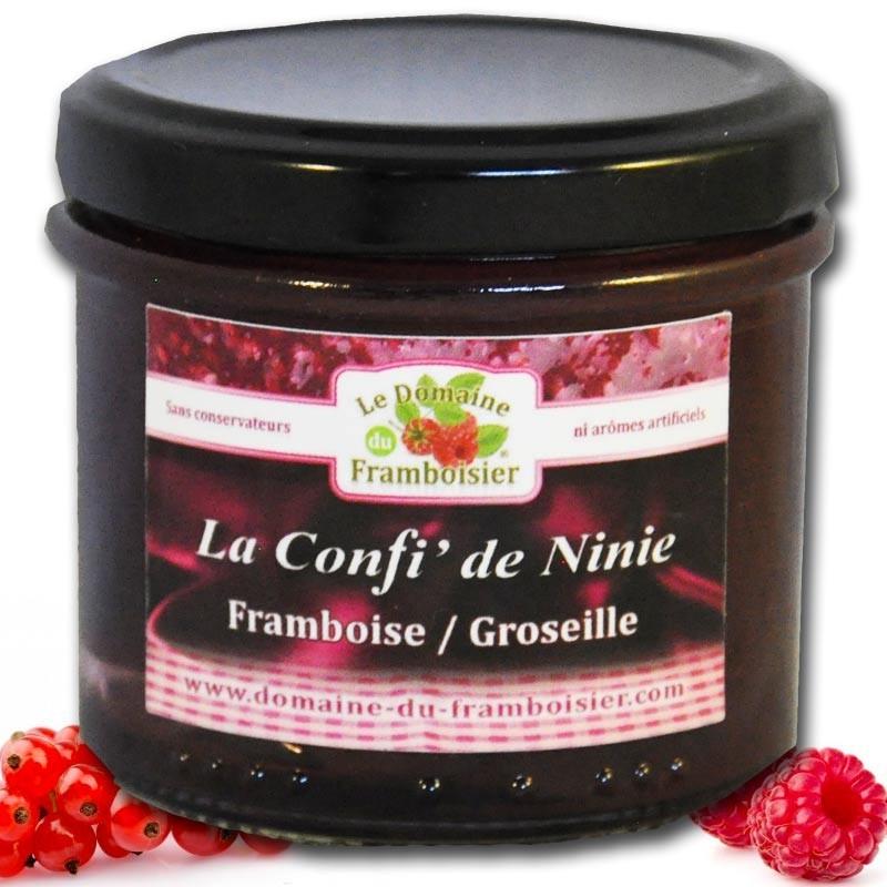 Confiture artisanale Framboise - Groseilles - épicerie fine en ligne
