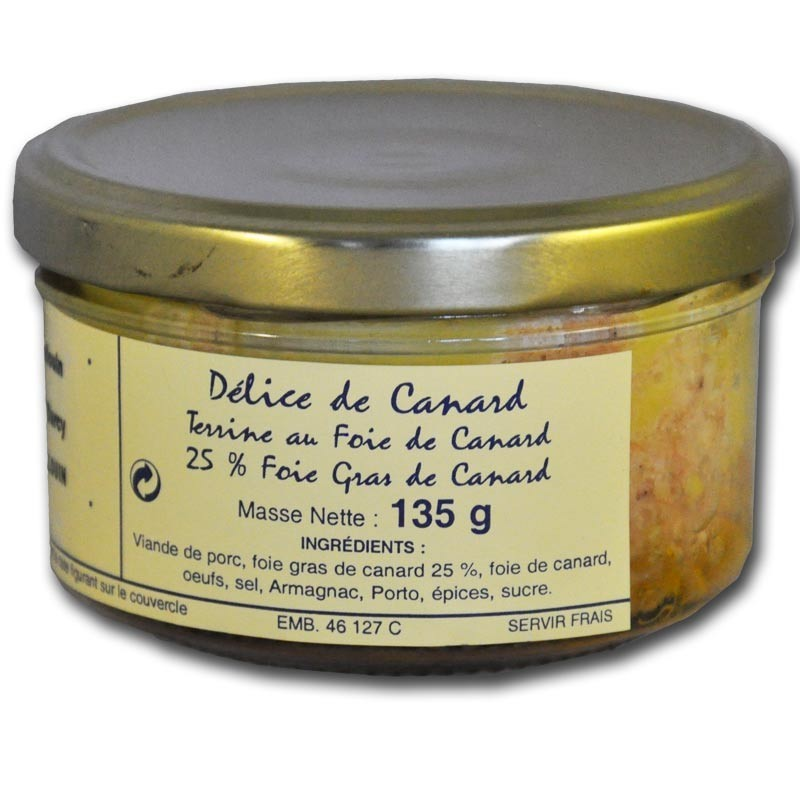 Terrine with foie gras - Online French delicatessen