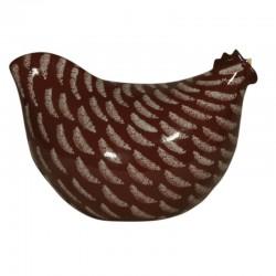 Pollo cerámico rojo lussan, modelo mediano