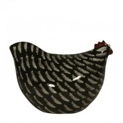 Pollo negro medio ceramica de lussan