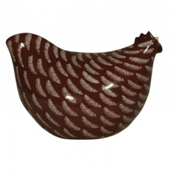 pollito de cerámica roja, modelo grande