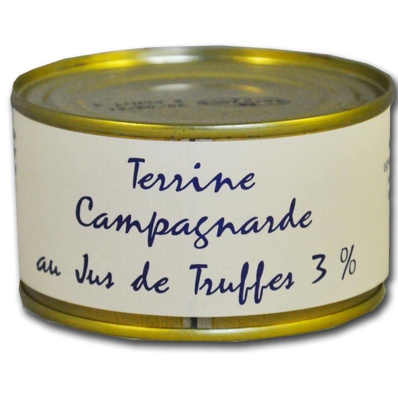 terrina rústico con jugo de trufa - delicatessen francés online