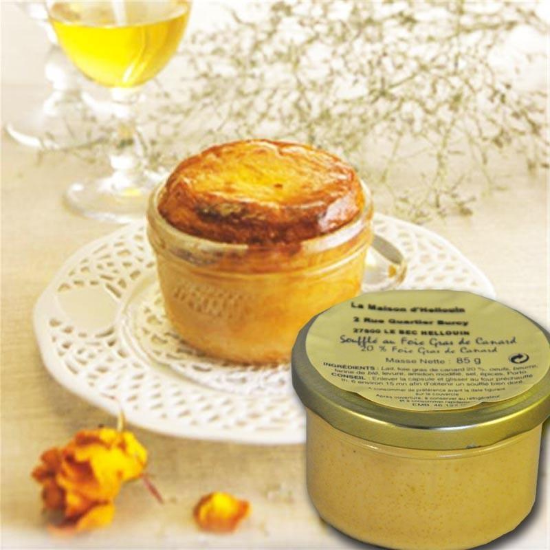 Soufflé con foie gras