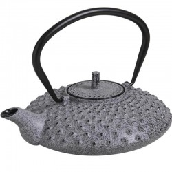 Light gray cast iron teapot...