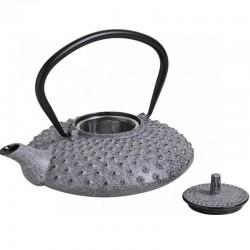 Hellgraue Gusseisen Teekanne 0.8L