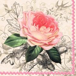 Alte rosa Papierservietten