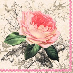 Oude roze papieren servetten
