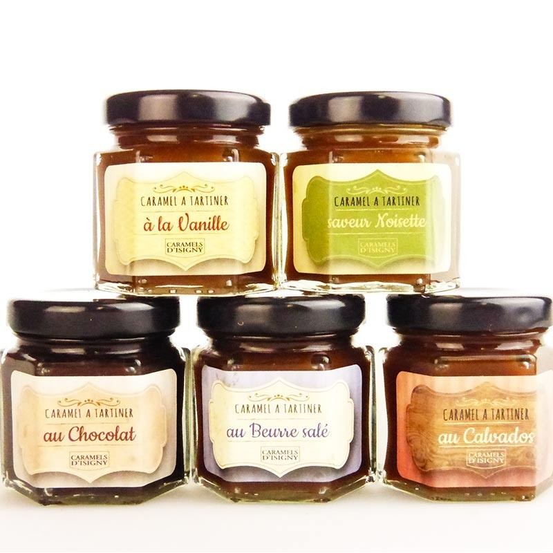 Assortment of 5 caramels spread - Online French delicatessen