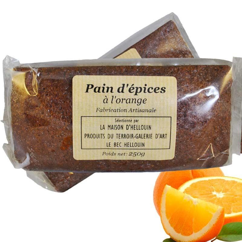 Pain d'épices artisanal à l'orange confite - épicerie fine en ligne