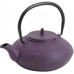0.7L purple cast iron teapot