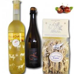 Gourmet-Korb um die Kastanie- Online französisches Feinkost