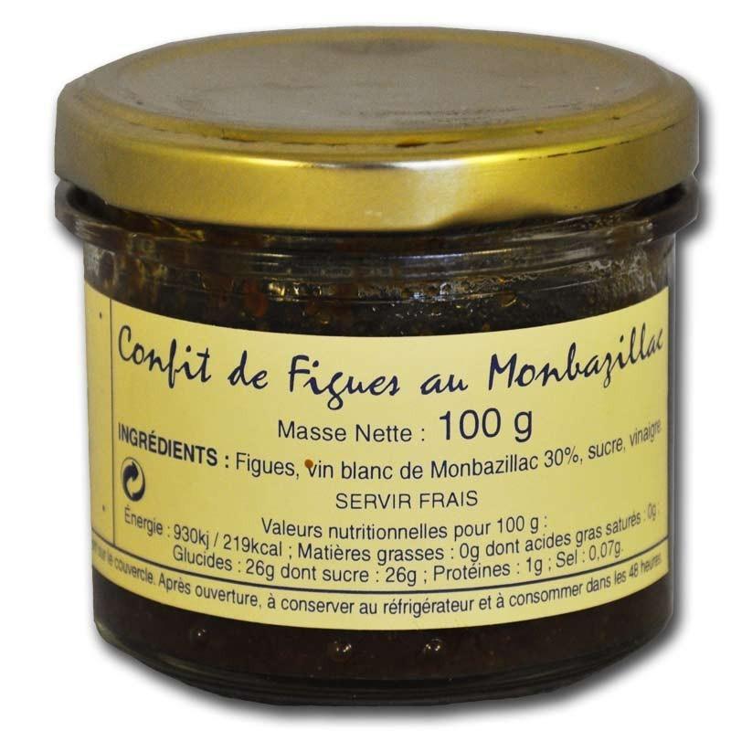 Confit de figues au monbazillac - épicerie fine en ligne