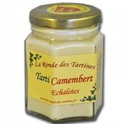 Crema de camembert y chalotes.