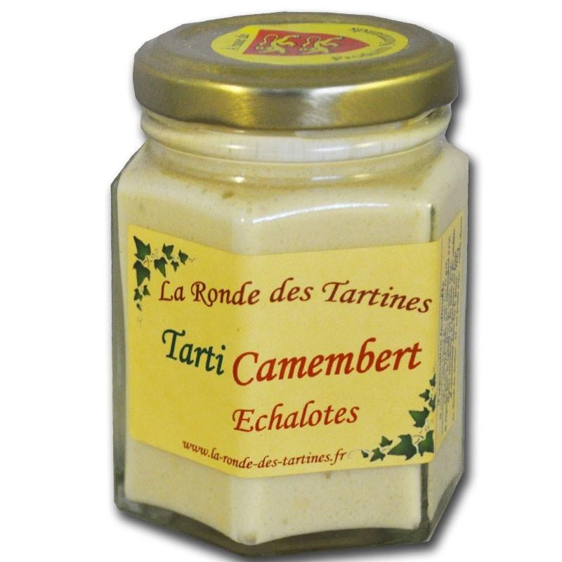 Camembert-Sahne und Schalotten