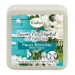 Jabon flores blancas