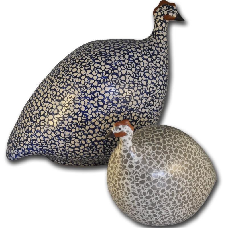 2 gallinas de Guinea de Lussan