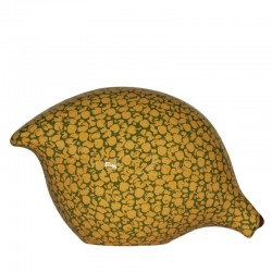 Keramik Wachtel gelb-grün