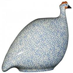 Ceramic guinea fowl White-Lavender
