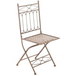 Chaise fer forge jardin