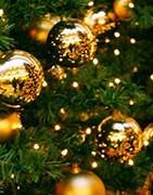 Auswahl Weihnachtsdekorationen