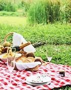 Franse gastronomische producten van juli